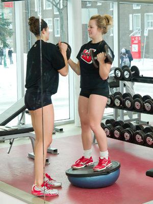 UWinnipeg Students in Fitness Centre