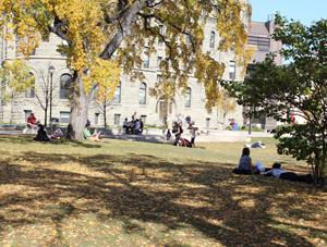UWinnipeg Campus in the Fall