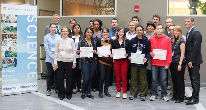 2012 Student winners of The Randy Kobes Undergraduate Poster Session