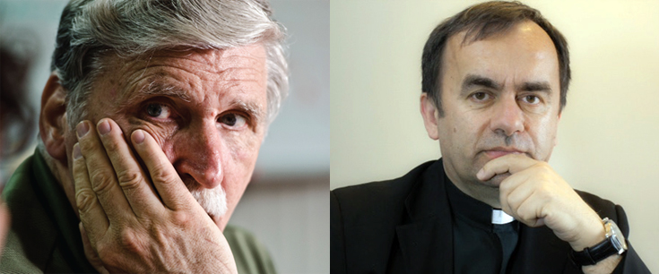 Roméo Dallaire and Father Patrick Desbois