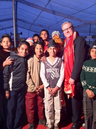 Photo from Dr. Axworthy's 2011 visit to Bhanohar village.