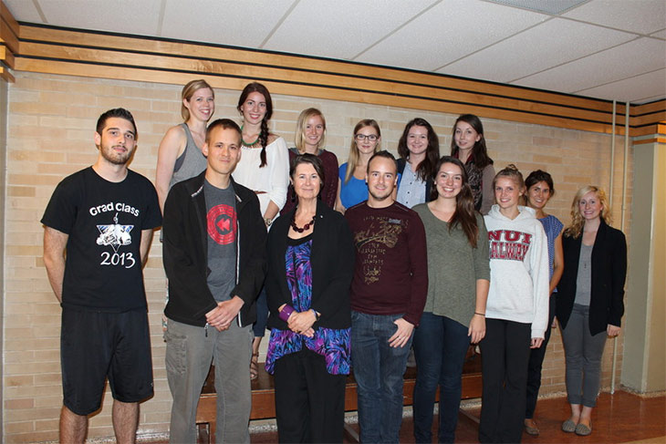 Students participating in UN Study Tour, with Professor Marilou McPhedran (front row, 3rd from left)