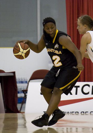 Keneca Pingue-Giles on the basketball court