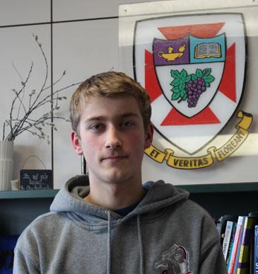 Christian Gruenke, winner of the Garnet Kyle Scholarship