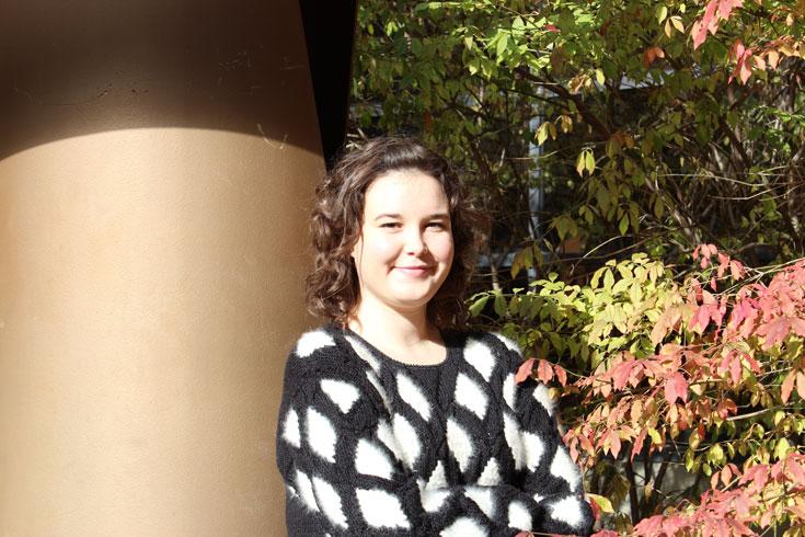 Rebecca Schur, winner of the Garnet Kyle Scholarship