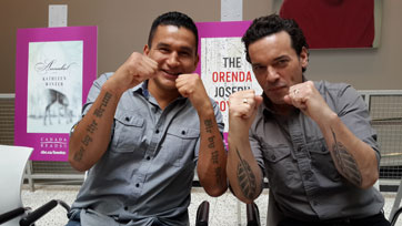 Wab Kinew and authour Joseph-Boyden