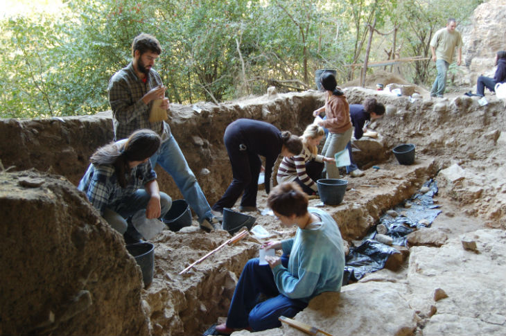 Anthropology students in Serbia