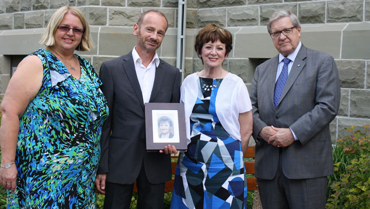Debra Radi, John Dyck (brother of the late Judy Dyck), Lois Martin, Dr. Axworthy
