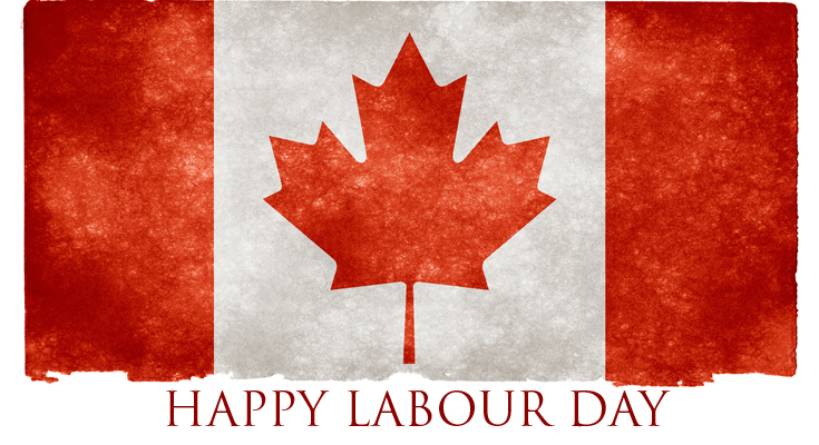 Canadian Flag, happy Labour Day