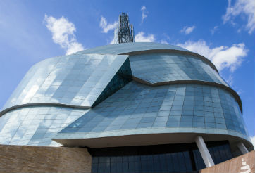 The Canadian Museum of Human Rights -courtesy of the CMHR