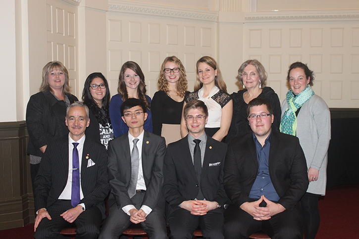Members of the 2014 Golden Key Executive and their faculty advisors