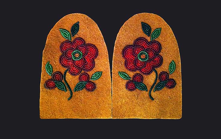 Image of Vamps (Mocassin beadwork) courtesy of Walking With Our Sisters and artist Greg Scofield