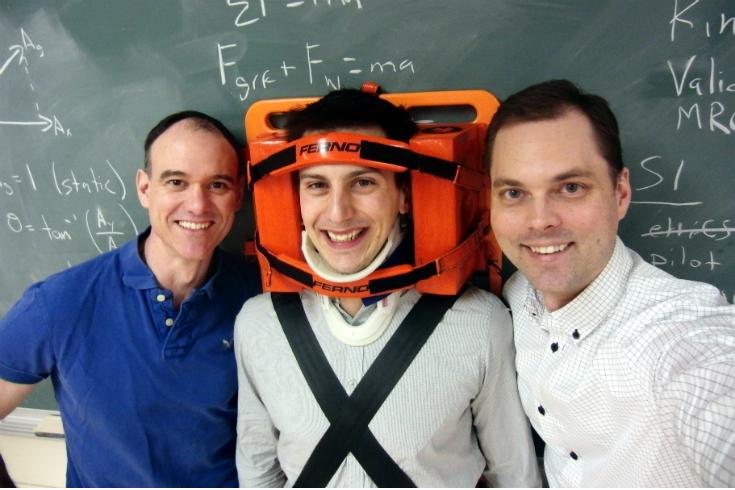 Photo - L->R: Neil McDonald, Florent Thezard + Dr. Rob Pryce