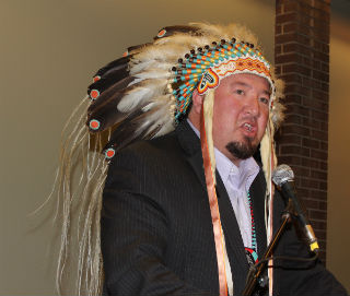 Derek Nepinak, Grand Chief AMC speaks at UWinnipeg June 2, 2015
