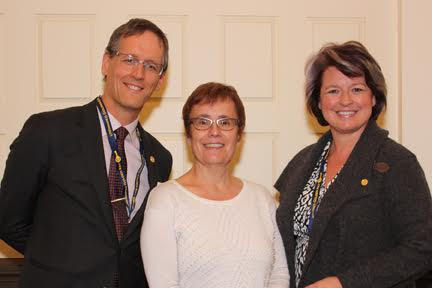 (Left to right) Dr. James Currie, Dr. Annette Trimbee and Dr. Sylvie Albert