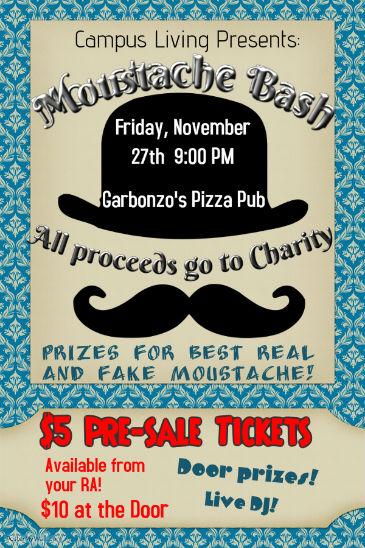 Moustache Bash Poster