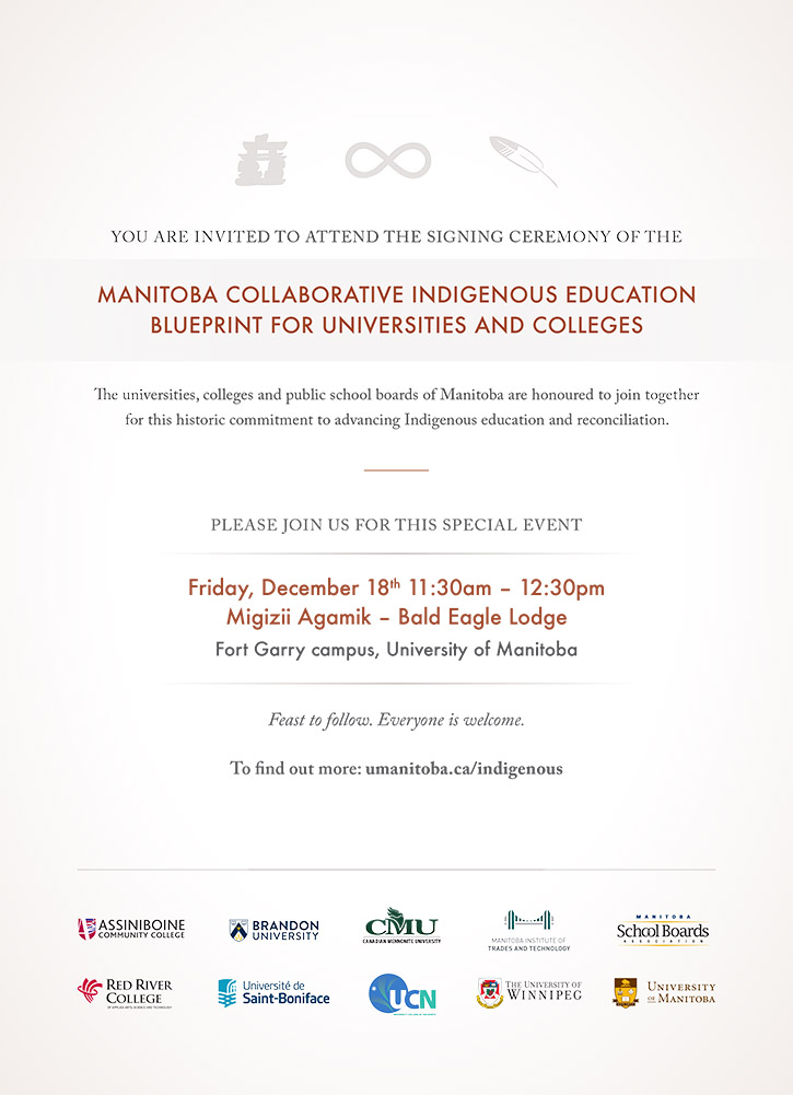 Invitation to Indigenous Blueprint Signing
