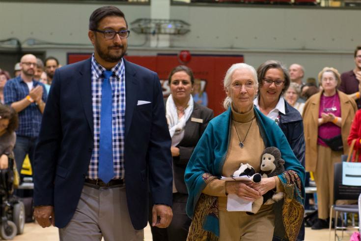 Dr. Carlos Colorado + Jane Goodall photo: Dan Harper, © Dan Harper