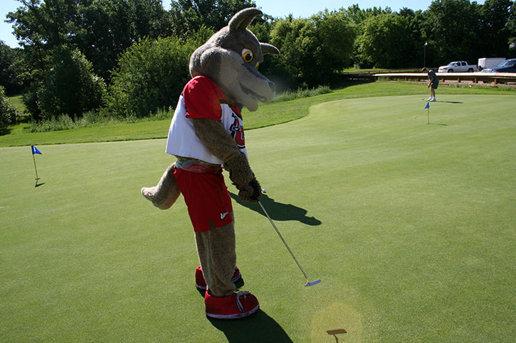 Weslee Coyote at Wesmen golf touranment