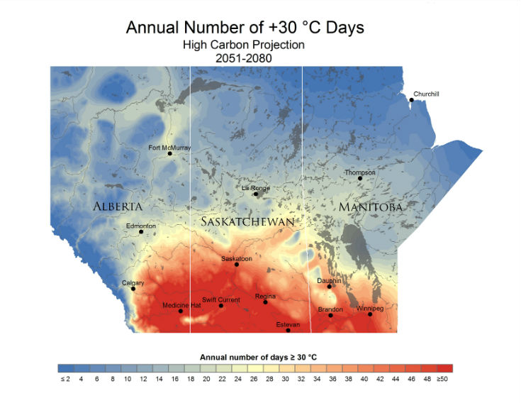 Winnipeg On Map Of Canada.Mapping Climate Change On The Canadian Prairies University Of