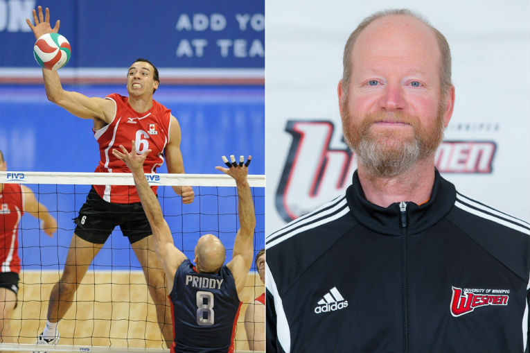 Justin Duff left (photo by Team Canada Volleyball) Larry McKay right (photo by Kelly Morton)