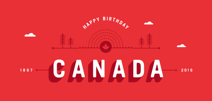 Happy Birthday Canada, graphic