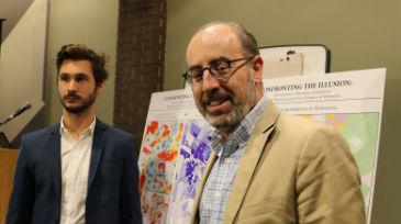 Study authors: Alum Kyle Wiebe and Jino Distasio staff photo