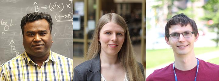 Dr. Shakhawat Hossain, Sarah Campbell, Adam Borchert, © UWinnipeg