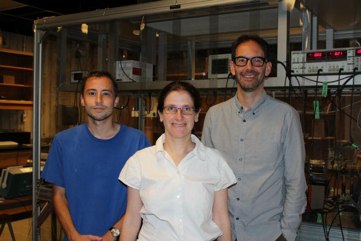 Morgan Mercredi, Dr. Melanie Martin, Dr. Christopher Bidinosti, staff photo