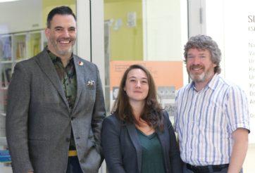 Stephen Penner, Amy Hay, Dr. Simon Berge, ©UWinnipeg