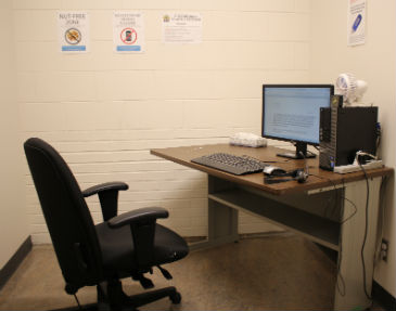 Accessible workstations with adaptive software - staff photo