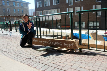 Creating awareness about homelessness - staff photo