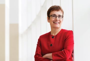 Dr. Annette Trimbee, President and Vice-Chancellor at UWinnipeg. Photo by Cory Aronec.