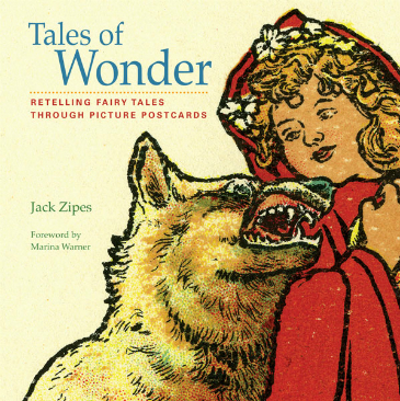 Tales of Wonder book cover with Red Riding Hood + the wolf