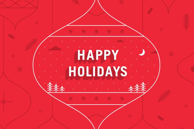 Happy Holidays image,,©UWinnipeg