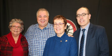 Joan Ledoux, David Chartrand, Annette Trimbee, Jino Distasio - staff photo