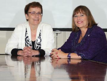 Annette Trimbee and Gail Asper
