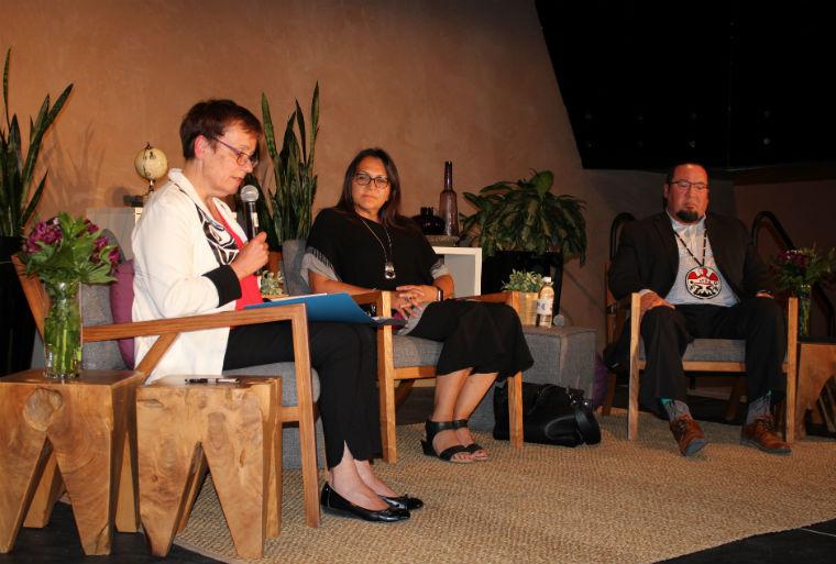 Annette Trimbee, Loretta Ross Derek Nepinak - staff photo