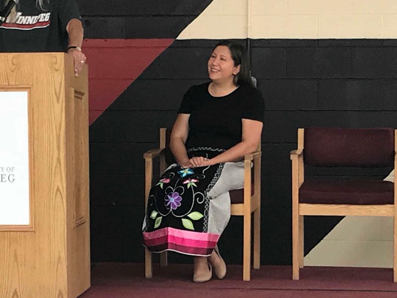Jarita Greyeyes at mural unveiling