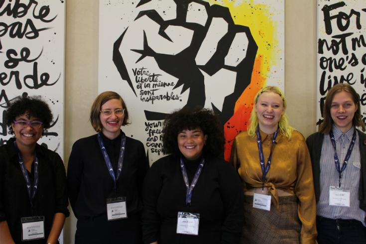 L to R Thiané Diop, Nicole Ritchie, Jana Elazar, Dallas Gillingham, and Jase Falk,, ©Lauren Bosc