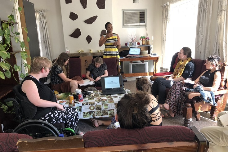 UWinnipeg students had the opportunity to learn from Shirley Keoagile of the Botswana Association for the Deaf in Gaborone, Botswana