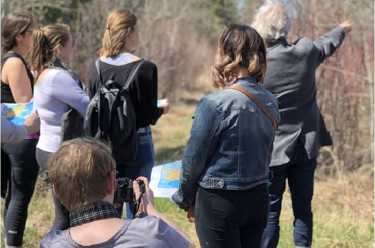 UWinnipeg students visited Shoal Lake 40 as part of their 2018 Health and Human Rights in Social Context Field Course (Photo credit: Leanne Huska)