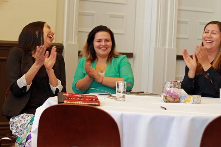 Angeline Nelson, Julie Hebert, and Jarita Greyeyes