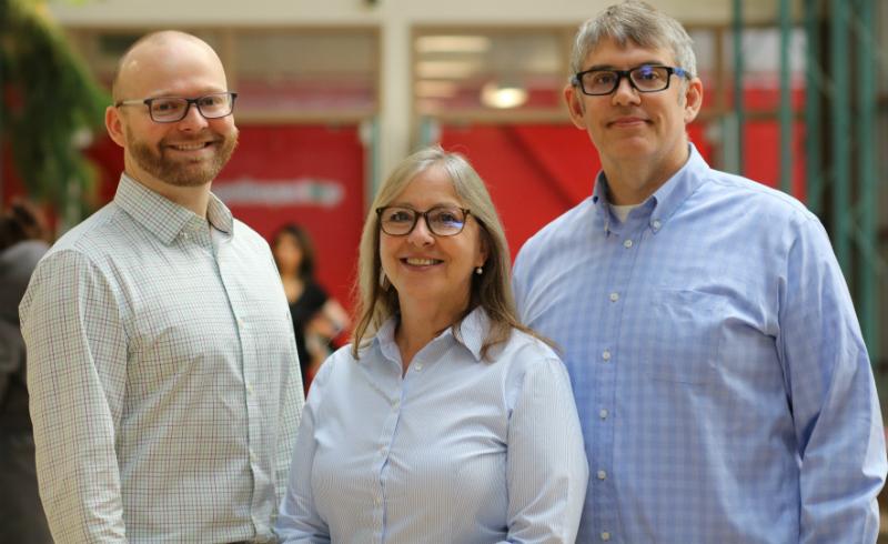 Drs. Christopher Henry, Joni Storie, Christopher Storie,, ©UWinnipeg