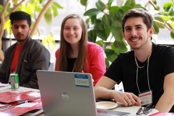 Digitizing Justice student volunteers