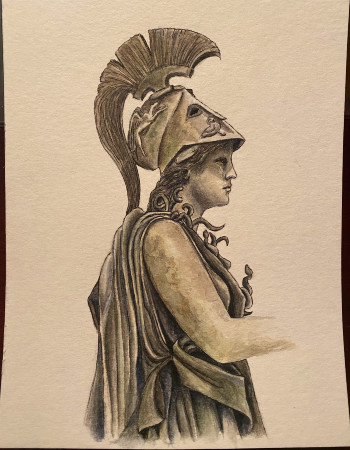 Roman painting by Caitlin Mostoway-Parker
