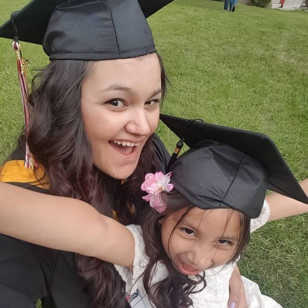 graduate with daughter